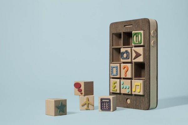 Wooden iPhone toy.: App, For Kids, Kyle Beans, Wooden Iphone, Wooden Toys, Computers Art, Wooden Block, Mr. Beans, Baby Gift