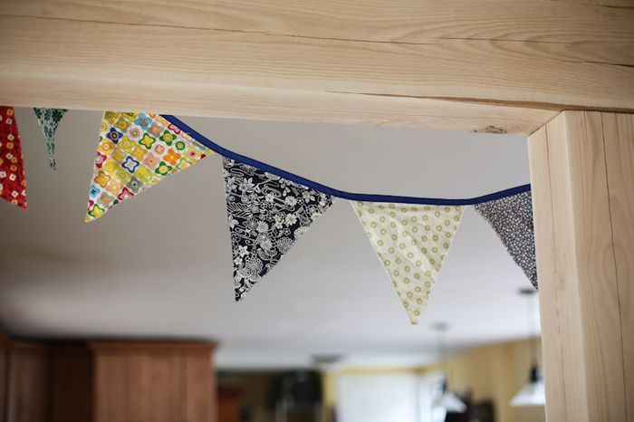 Simple, organic, homemade birthday decorations