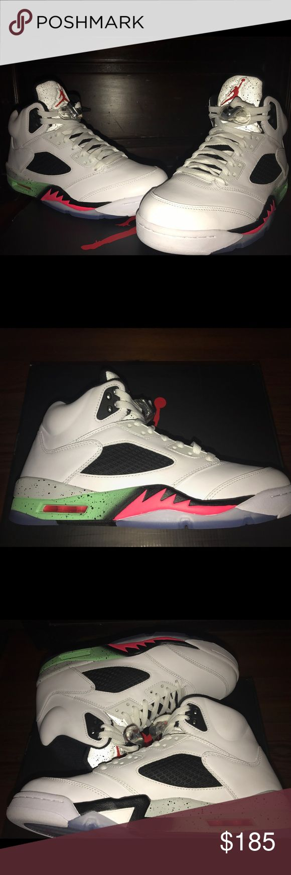 Air Jordan 5 Pro Stars - WORN ONCE: LIKE NEW Air Jordan 5 Pro Stars - Worn once, LIKE NEW, EXCELLENT CONDITION. Kept in original box which is included with purchase. Wont last long! Jordan Shoes Sneakers