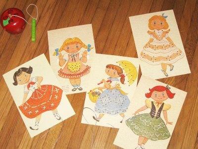 Vintage sewing/lacing cards... free download