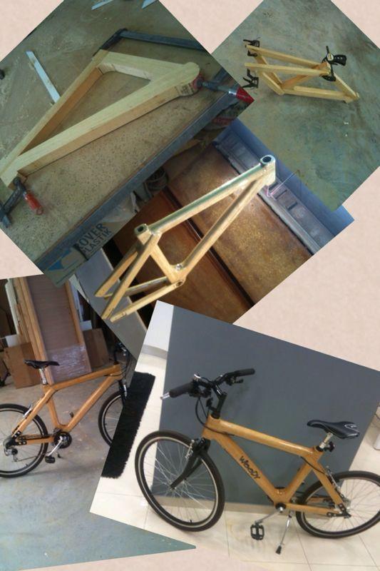 Step by step wood bicycle