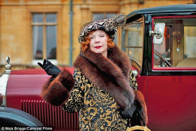 Making an entrance: Shirley Maclaine as Martha Levinson in the third series of Downton Abbey, set in 1920