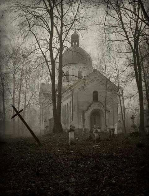 Old abandoned church & cemetery in Oleszyce, Poland