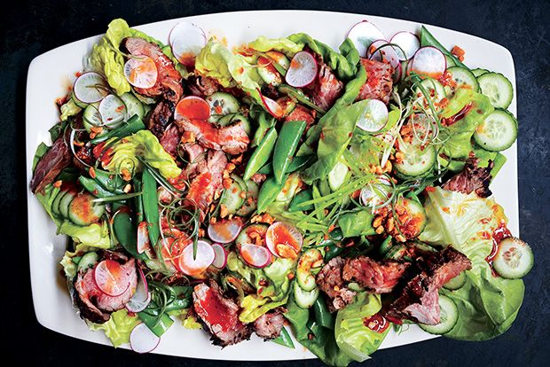 Find the recipe for Steakhouse Salad with Red Chile Dressing and Peanuts and other lettuce recipes at Epicurious.com