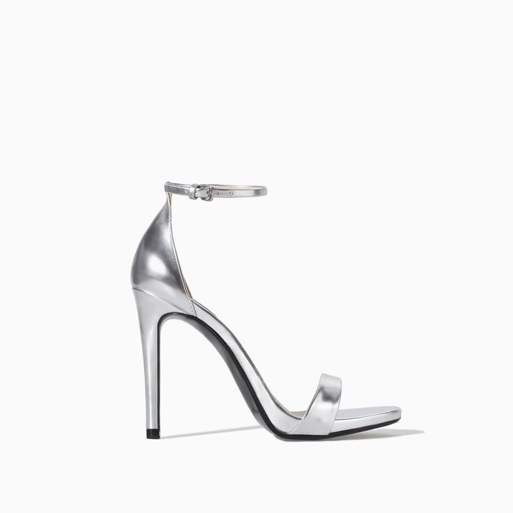 ZARA - WOMAN - METALLIC HIGH HEEL STRAPPY SANDAL