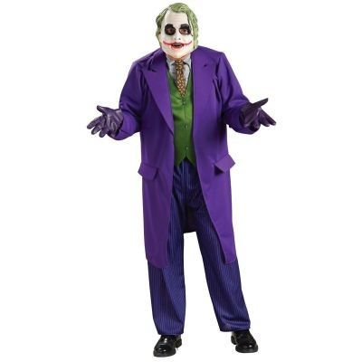 Men's, Official DC Comics Batman, The Dark Knight Joker Fancy Dress Costume