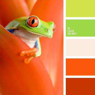 Bunte und sonnige Verbindung von Grün- und Orangetönen lässt sich mit neutraler Leinenfarbenuancieren. Die in dieser Farbpalette ausgeführten Veranden der.