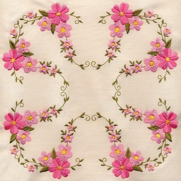 8x8 Floral Quilt 3