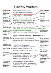 english worksheet timothy winters annotated poem charles causley poetry pinterest english. Black Bedroom Furniture Sets. Home Design Ideas