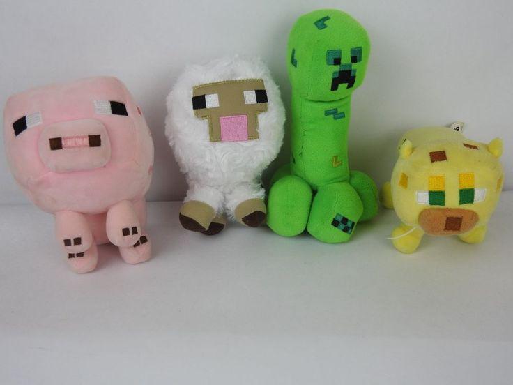 Mojang Minecraft Plush You Pick preowned Plush Ocelot, Jinx, Sheep, and Pig #Mojang
