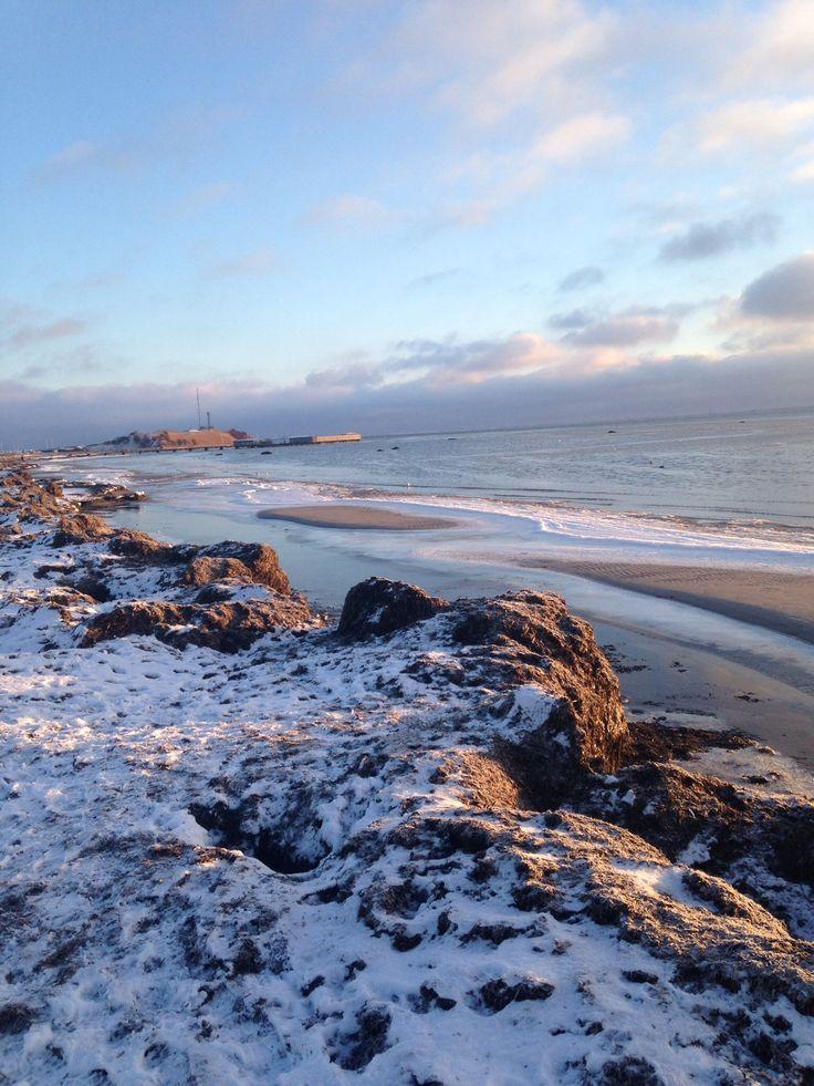 Mit dejlige foto af stranden som er så smuk på alle årstider
