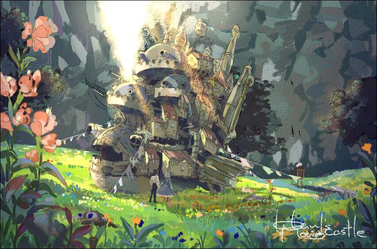 Howl's Moving Castle: Studio Ghibli, Illustrations Art, Howl'S Moving Castles, Howls Moving Castle, Not Them Miyazaki, Art Studios, Howl'S Castles, Fans Art, Studios Ghibli
