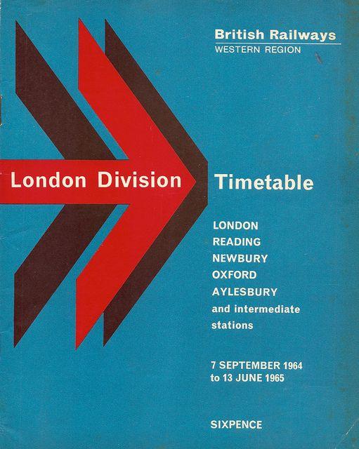 British Railways, Western Region - London Division timetable, 1964/5 by mikeyashworth, via Flickr