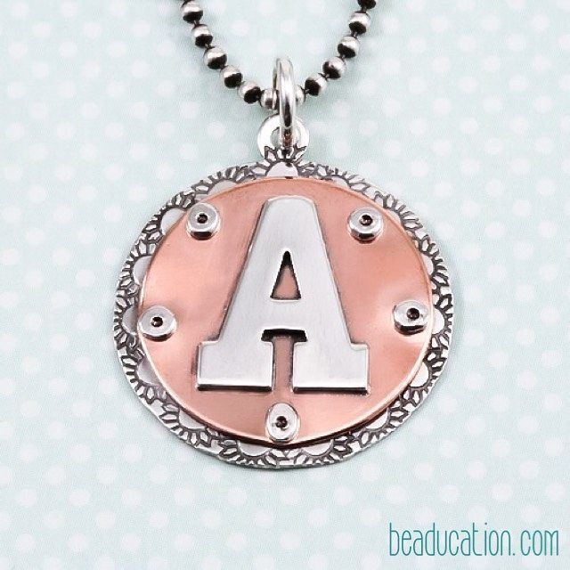 a is for awesome like this riveted pendant check out the how to at - Jewelry Design Ideas