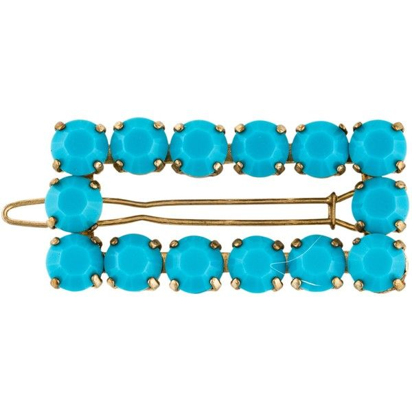 Pre-owned Kate Spade New York Embellished Hair Clip ($45) ❤ liked on Polyvore featuring accessories, hair accessories, gold, gold hair accessories, kate spade, beaded hair clips, gold hair clips and barrette hair clip