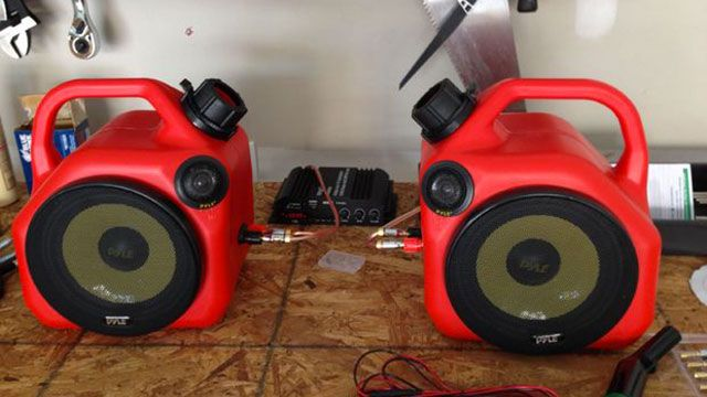 Turn Two Gas Cans into a Serious Speaker Set