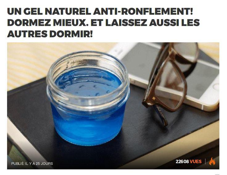 Un gel naturel anti-ronflement! Dormez mieux. Et laissez aussi les autres dormir!