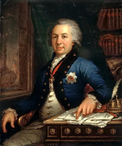 Portrait of the Russian poet Gavril Derzhavin - Vladimir Borovikovsky