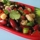 Three-bean salad. Great for cookouts, or portion for grab-and-go lunches!