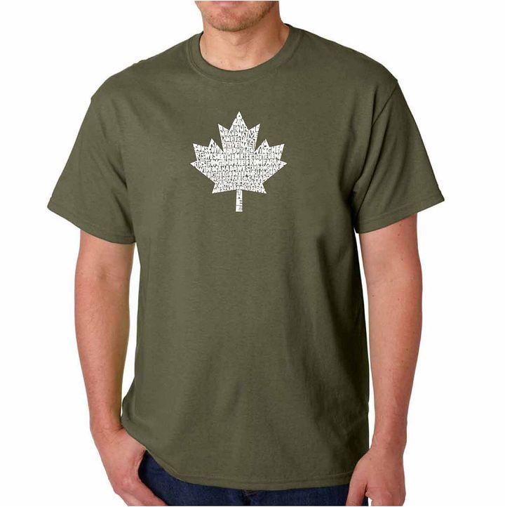 LOS ANGELES POP ART Los Angeles Pop Art Canadian National Anthem ShortSleeve Word Art T-Shirt - Big and Tall