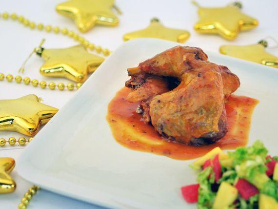Faraona al pompelmo con insalata di ananas - Un secondo piatto perfetto per le feste! #RicetteNatalizie
