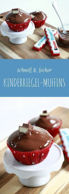 Kinderriegel Muffins: Rezept für Schokomuffins mit Kindheitserinnerungen. Die Kinderriegelmuffins kann man natürlich auch als Kinderschokolade Muffins zubereiten. Sie sind super als Kindergeburtstag Muffins oder als Kindergarten Mitgebsel.