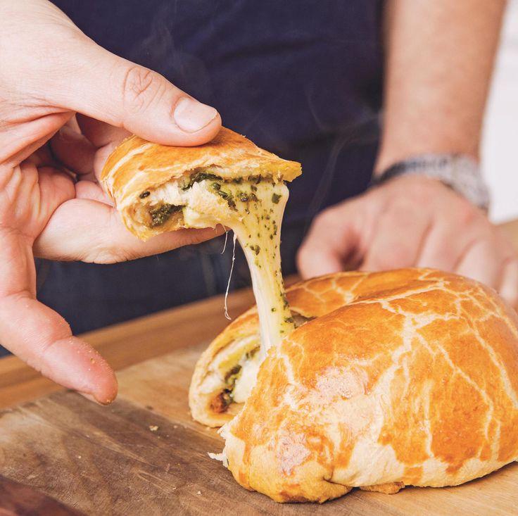 Make Baked Gouda with Sun Dried Tomato Pesto using this easy recipe.