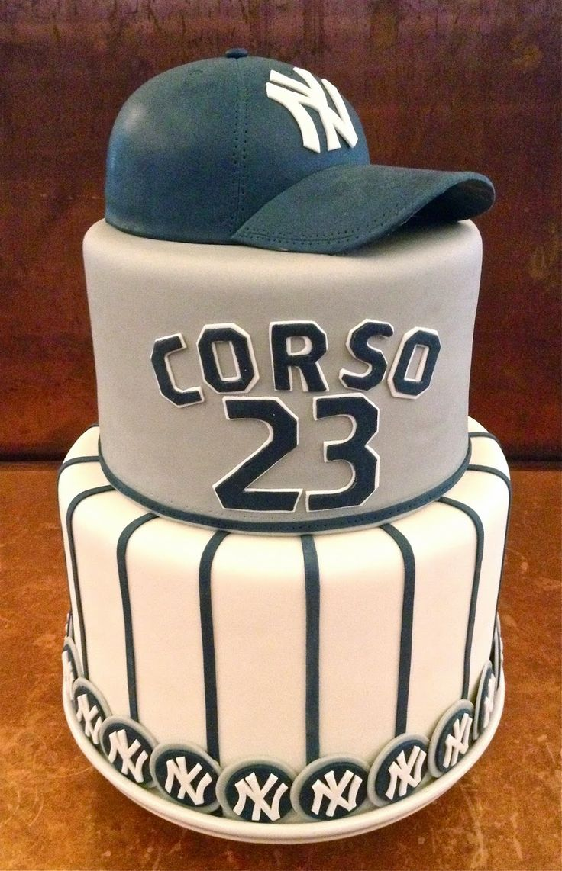 Yankees Baseball Hat Cake