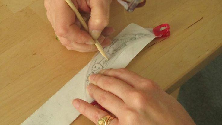 Reproduction des carpes sur du papier calque.