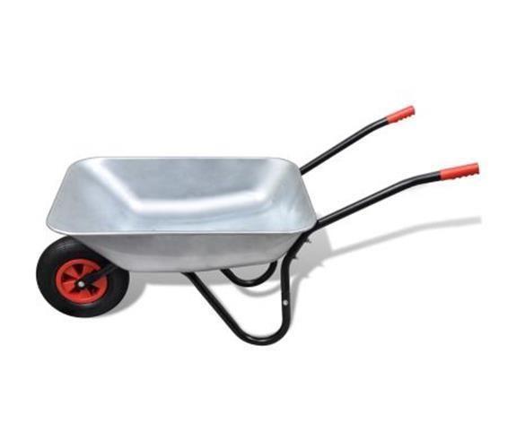 Details About Silver Wheelbarrow Gardening Tool Heavy Duty Single Wheel Barrow Galvanised Tray Garden Tools Wheelbarrow Galvanized Tray