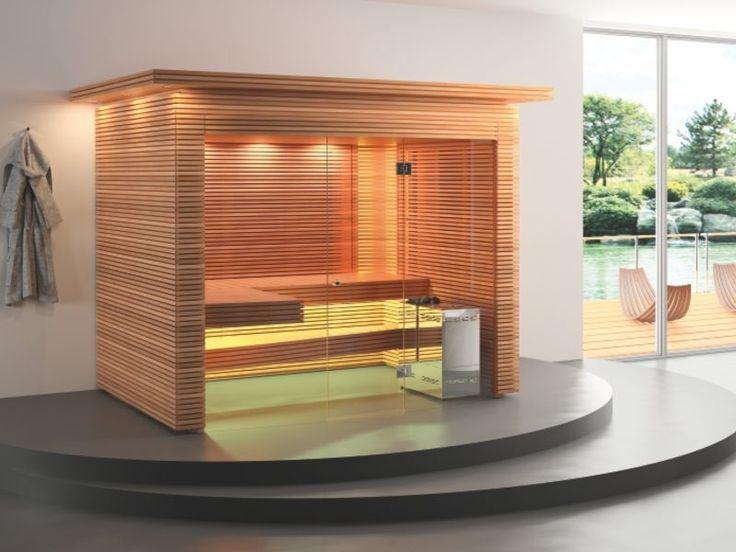 Ovola Mit Gerundeter Glasfront, Freistehende Bio Sauna