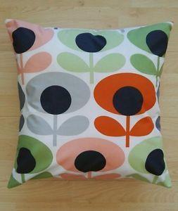 "16"" 18"" 20"" ( 40/ 45/ 50cm ) MULTI FLOWER OVAL TOMATO Orla Kiely cushion cover  | eBay"