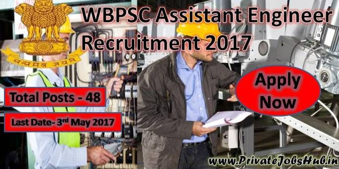 As per Latest notification Assistant Engineer Vacancies are Available, so apply now for WBPSC Assistant Engineer Recruitment through online mode. Before applying, get complete details regarding WBPSC Careers notification from here. West Bengal Public Service Commission is going to hire dedicated applicants for filling Assistant Engineer posts. Job appliers, who wish to grab jobs in West Bengal PSC, may apply on or before the end date.