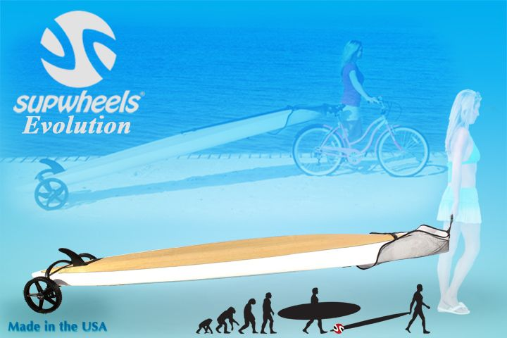 Bike and SUP boards come together with SUP Wheels® Evolution!!!