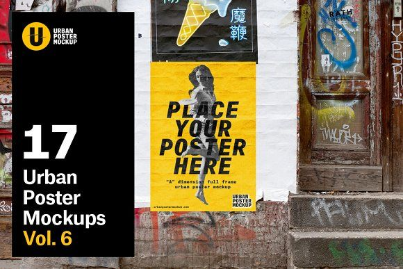 Urban Poster Mock Up Vol 6 By Urban Poster Mockup On Creativemarket Poster Mockup Poster Mockup Free Poster Mockup Psd