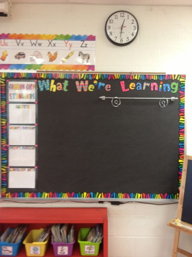 Magnetic curtain rod to hang anchor charts  What about using command hooks for white boards?