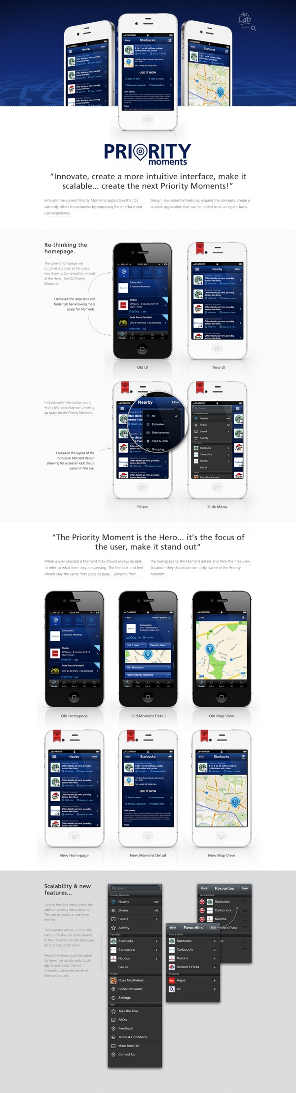 O2 Priority Moments. Proof of concept. by Ross MacKintosh, via Behance