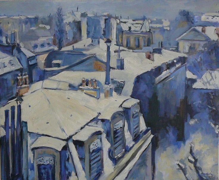 Toits de Paris de Gustave Caillebotte