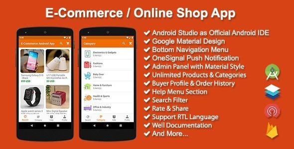 E Commerce Online Shop App Codelib App In 2021 Shop App App Template App
