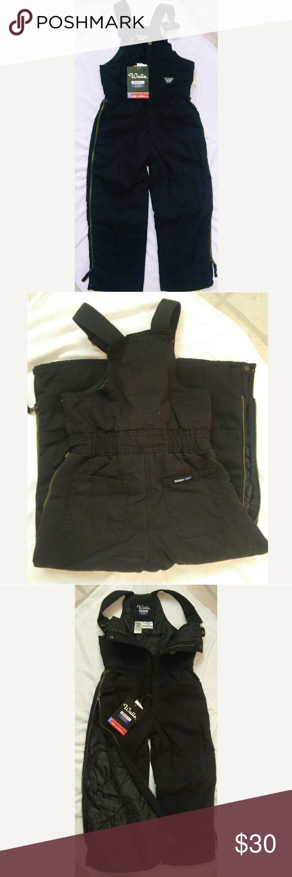 Sz 8/10 Walls BLIZZARD PRUF bib overall Sz 8-10 (m) youth. Brand New black insulated bib overalls. Easy on and off plus machine washable! Walls Other