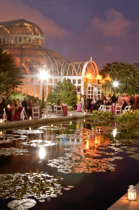 Social events can be booked at the Palm House, Brooklyn Botanic Garden.  It was constructed in the Beaux-Arts style by the architecture firm of McKim, Mead & White.