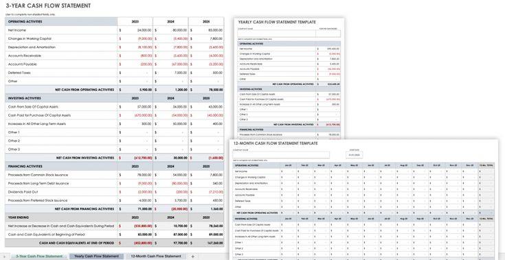 Free cash flow statement templates smartsheet cash
