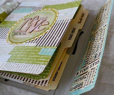 Handmade journal from file folders