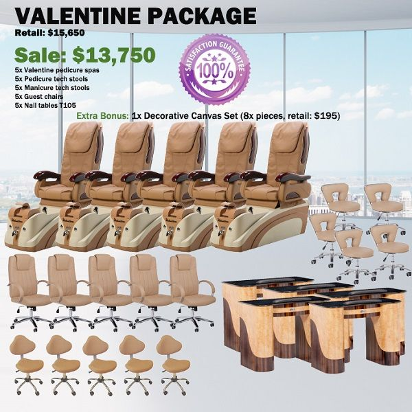 Valentine Spa Pedicure Chair Package – Free shipping - $12990 ,  https://www.ebuynails.com/shop/valentine-spa-pedicure-chair-package-free-shipping/  #furniture #spasalon #spafurniture #nailtable #salonfurniture #nailsalon