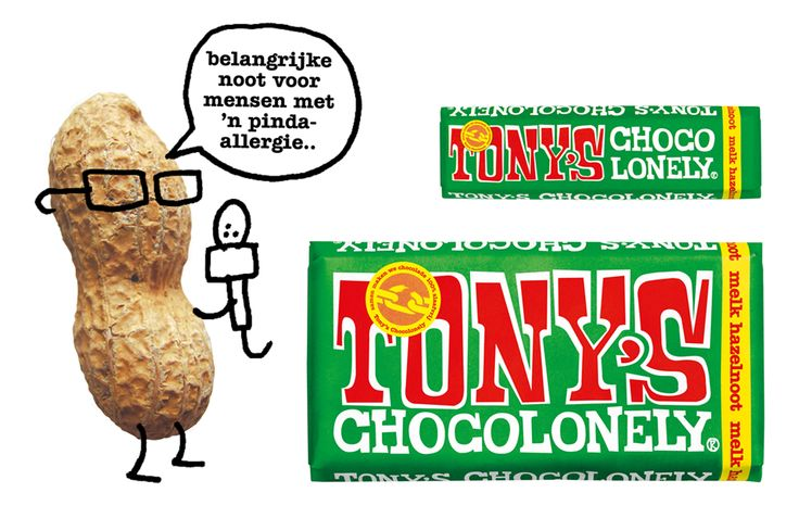 The Dutch chocolate brand Tony's Chocolonely. A fair choice, with an important note for people with a peanut allergy.