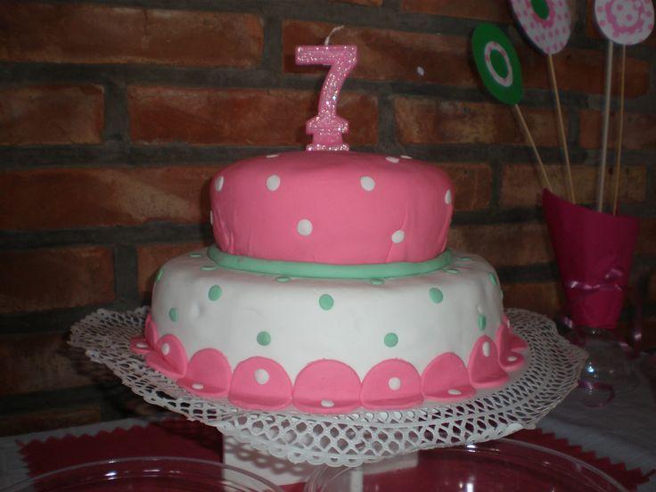 Torta ni a 7 a os girl cake tortas by dulcinea de la - Ideas cumpleanos 10 anos ...