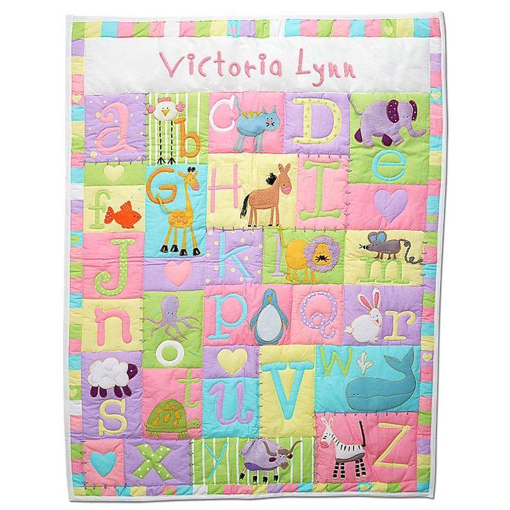 73 best abc quilts images on pinterest alphabet quilt appliques baby alphabet quilt negle Image collections