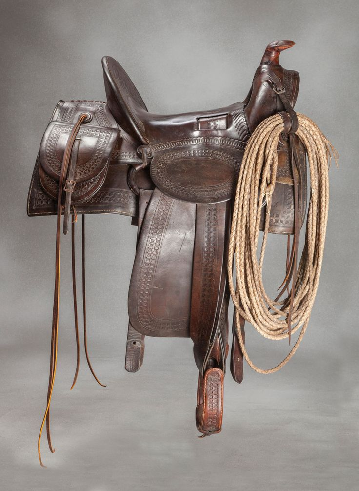 F.A. Meanea #14 Saddle with Saddle Bags and Reata. Brian Lebel's Old West Auction, June 11, 2016. Est. $2,200-2,800.