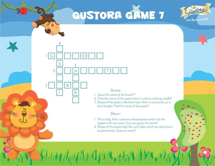 Go across and down to answer our tricky questions and enhance your pasta figures. Have fun! #fun #tricky #healthypasta #puzzle #gustoragames #across #down#useyourmind #pastafacts #enjoy #pastatime #gustorafoods
