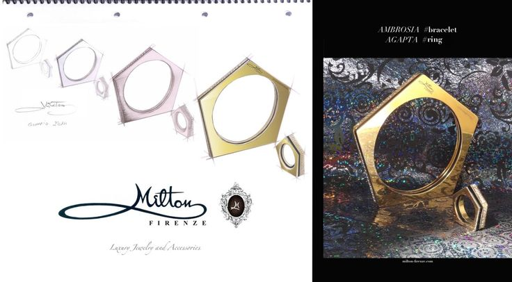 #miltonfirenze #ring and #bracelet. #milton #design